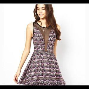 For Love & Lemons Women's Lulu Dress Mesh Sz L